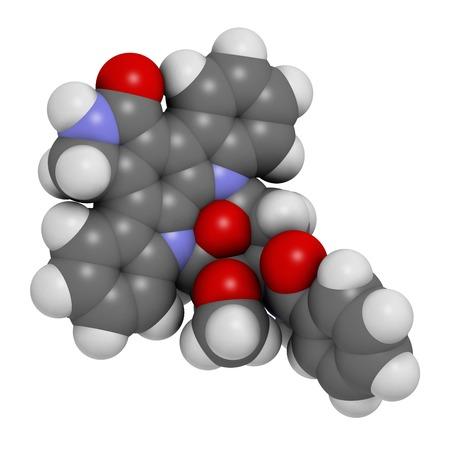 aml: Midostaurin cancer drug molecule