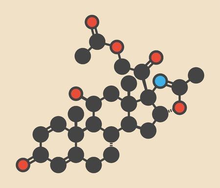 immunosuppressant: Deflazacort glucocorticoid drug molecule