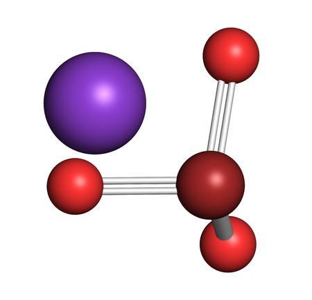 Potassium bromate molecule