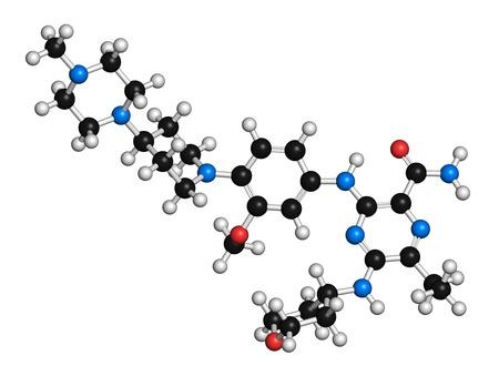 aml: Gilteritinib cancer drug molecule