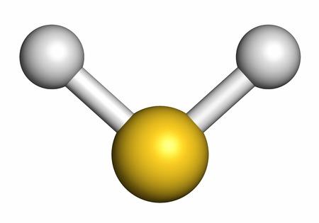 Hydrogen sulfide molecule LANG_EVOIMAGES