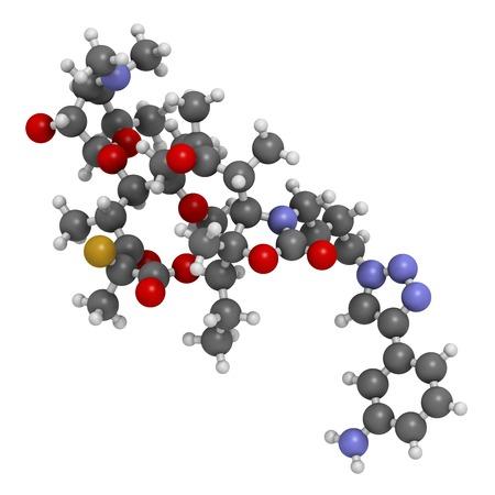 Solithromycin antibiotic drug molecule LANG_EVOIMAGES
