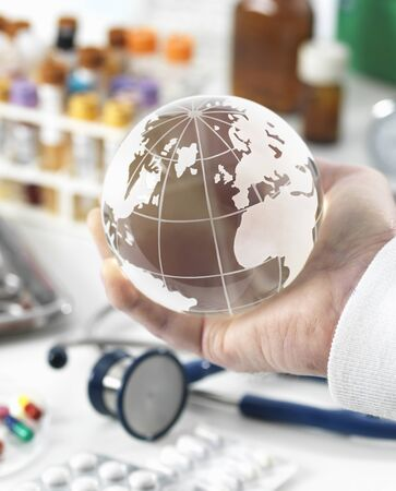 MODEL RELEASED. Global healthcare, conceptual image LANG_EVOIMAGES