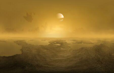titan: Artwork of lakes on Titan LANG_EVOIMAGES