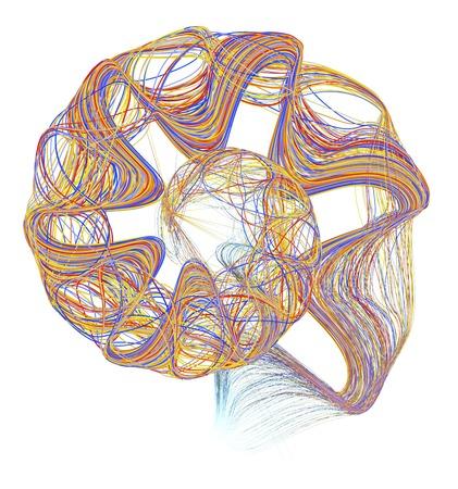 Multicoloured lines, computer artwork