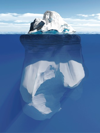 tip of iceberg: Tip of the iceberg, conceptual illustration