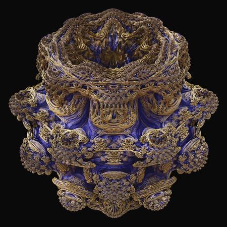 Mandelbulb fractal. Illustration of a three-dimensional analogue derived form a Mandelbrot Set using spherical coordinates LANG_EVOIMAGES