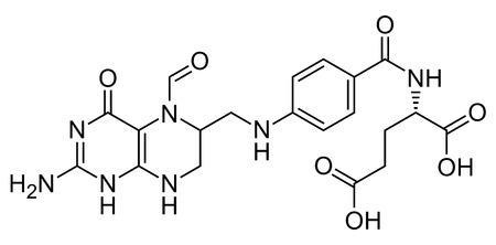 Folinic acid,skeletal formula