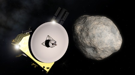 New Horizons encounters 2014 MU69,illustration