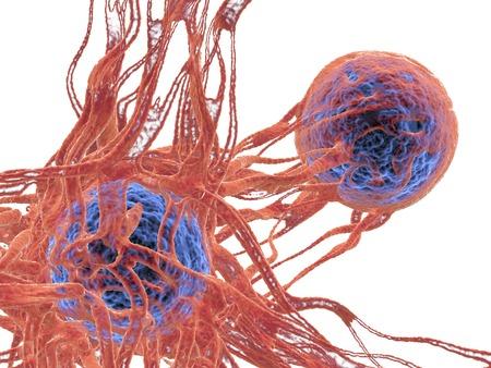 Cancer cell,illustration