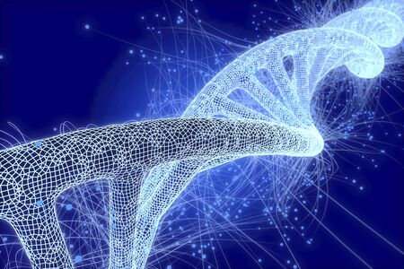 Biotechnology, conceptual illustration