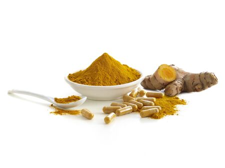 Turmeric root, capsules and dried powder LANG_EVOIMAGES