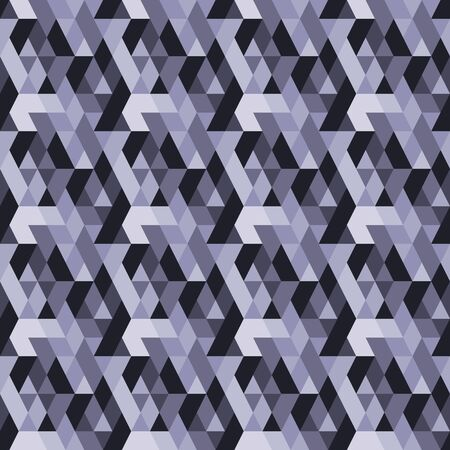 strictly: Geometric abstract image. Vector mosaic. Seamless texture. Rhombs and triangles are gray-white color