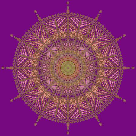 solar symbol: Carved mandala, solar symbol