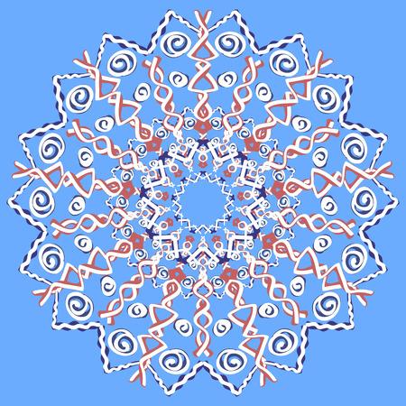 openwork: Openwork mandala, lace, snowflake. Illustration