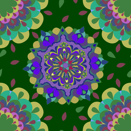 Children abstract pattern. The vector in the Turkish style. Celebratory bright background in yellow and green tones.