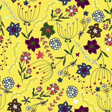Kinder nahtlose Muster. Nahtlose Sommer Illustration, floral Textur. Vektor. Verwenden Sie für die Kleidung der Kinder, wickeln, Tapete für Kinder, Hintergrund, Verpackung, Dekoration und vieles mehr
