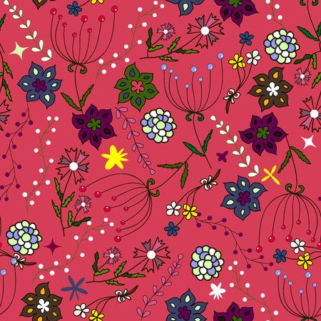 Kinder nahtlose Muster. Nahtlose Sommer Illustration, floral Textur. Vektor. Verwenden Sie für Kinderkleidung, wickeln, Tapete für Kinder, Hintergrund, Verpackung Dekoration und vieles mehr