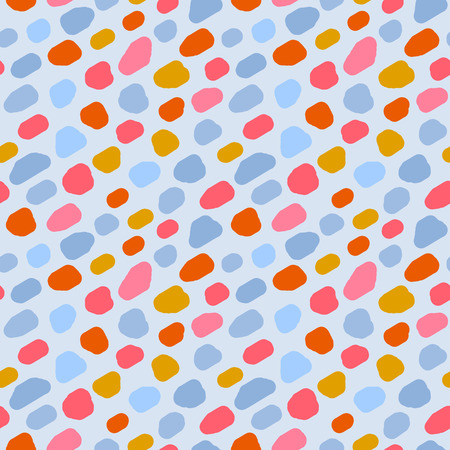 A Seamless pattern of colorful spots, vector. Good for fabric, wallpaper, web page background, baby products, wrapping paper, backdrop, gadgets and more Illustration