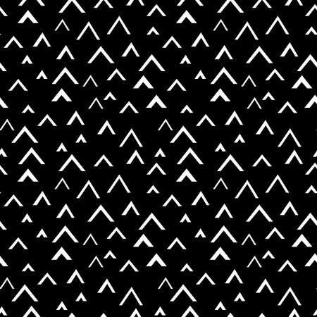 Black and white geometric texture, vector. Graphic geometric seamless pattern Illustration