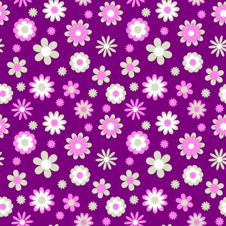 Childish seamless flower pattern, vector
