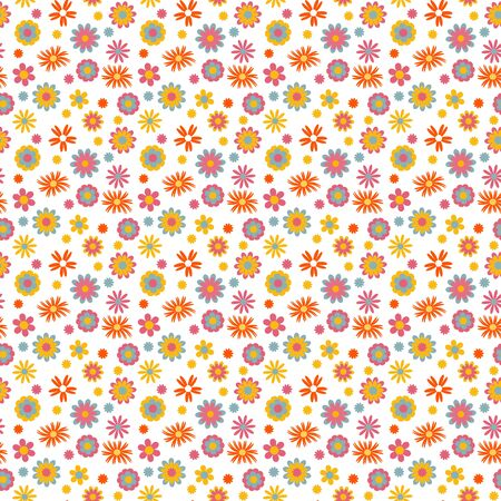 Childish flowers seamless pattern, vector. Ideal for childish cloth, wallpaper, wrapping paper, nursery interior decoration and much more Illustration