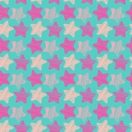 Cute seamless pattern with stars, vector. Baby texture with stars. Use for textile patterns, packaging design, wrapping paper, wallpaper, backdrop, decor in the children's room and more