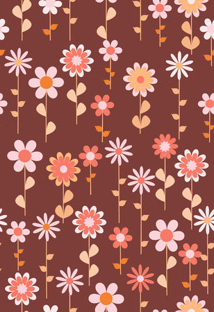 Beautiful seamless pattern with flowers in folk style. Seamless texture with flowers, vector. Good for wallpaper, print on fabric, paper products, surface decor and much more