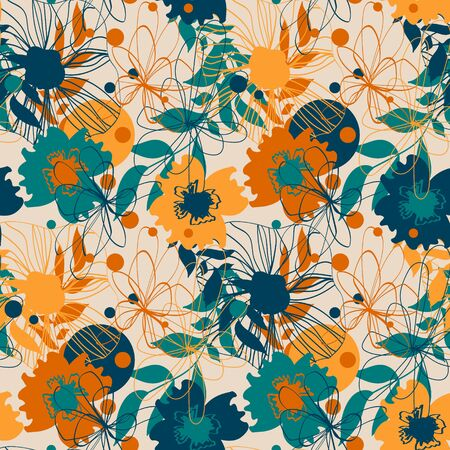 Seamless pattern with floral ornament for fabric, wallpaper, cover and more Ilustrace