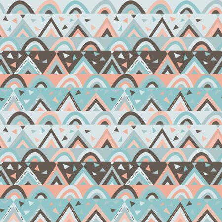 Cute seamless geometric pattern for kids, vector