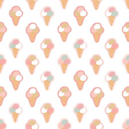 Seamless pattern with ice cream Ilustração