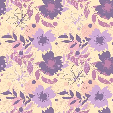 Seamless pattern with floral ornament for fabric, wallpaper, cover and more Ilustracja