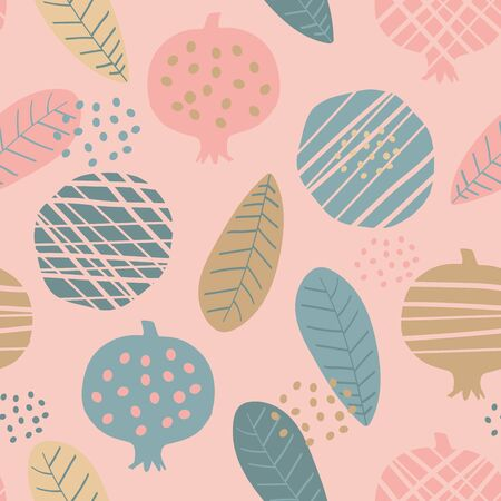 Cute colorful seamless pattern with fruits, vector Archivio Fotografico - 138440118