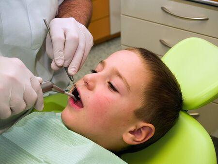 Preschool boy on dental prevention examination Stock Photo - 8705734