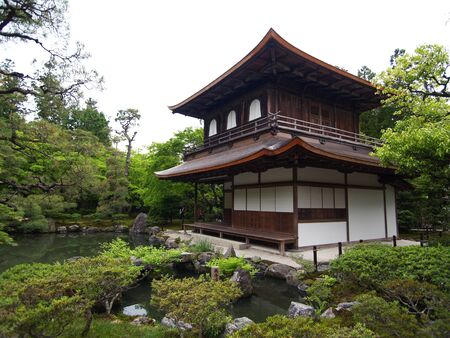 Famous Silver Pavilion In Kyoto Japan        Editorial