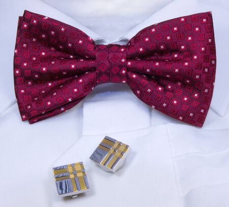 Formal dress with bowtie and cufflinks Stock Photo