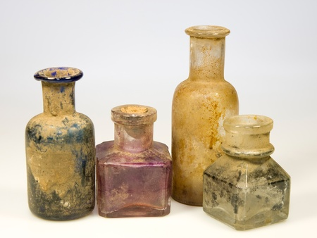 Odl styled dirty glass bottles