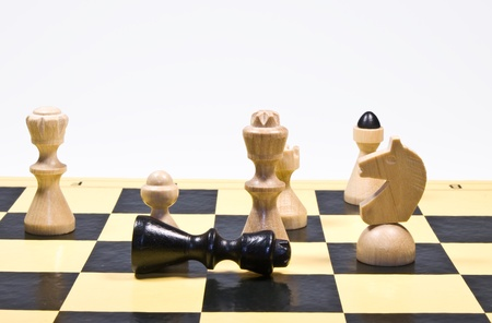 White king win a chess game