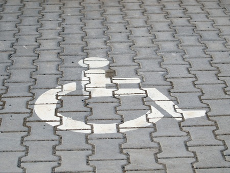 Parking space for handicapped peoples