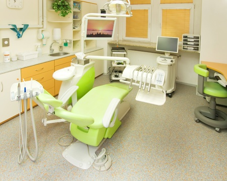 Modern consulting room in dental clinic photo