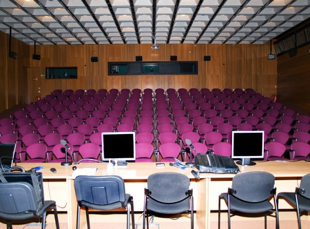 Modern conference hall for education