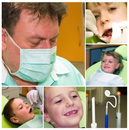 Cuidado dental para ni�os - collage photo