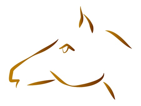 Stylized portrait of horse for logo Stock Vector - 17438377