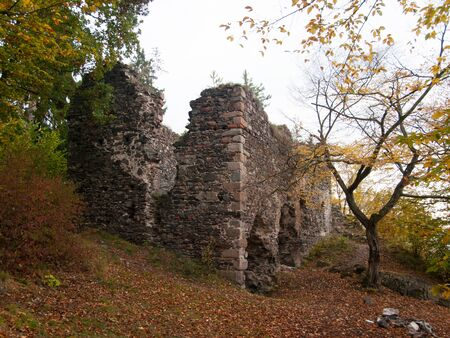 nostalgy: Ruins of gothic castle Zboreny Kostelec in Czech republic