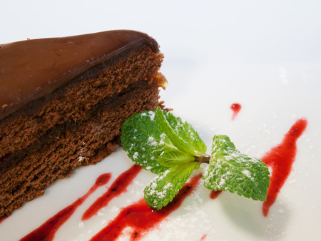 deatil: Deatil of chocolate cake