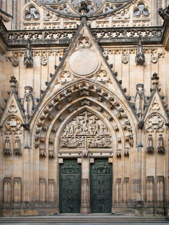 Entrance to St. Vitus Cathedral in Prague, Czech republic