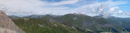 panoramatic: Panoramatic view from Hintertux in summer