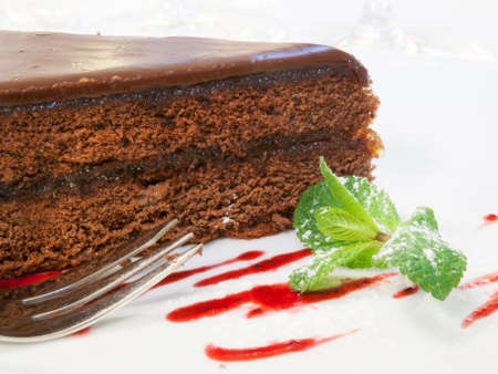 Deatil of chocolate cake