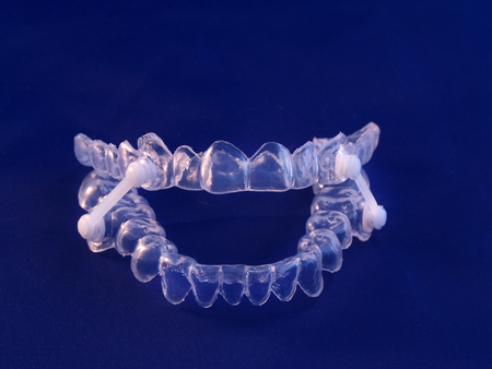Appliance for management of jaws during obstructive sleep apnea Stock Photo