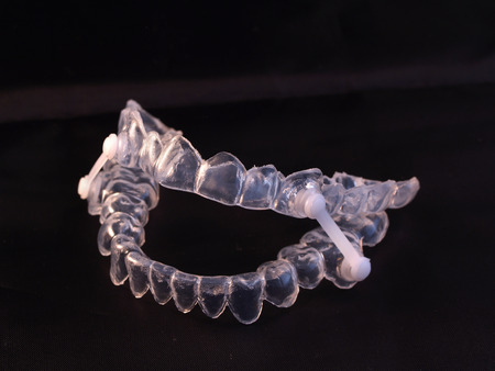 Appliance for control of movement lower jaw during sleeping as prevention of snoring - sleep apnea